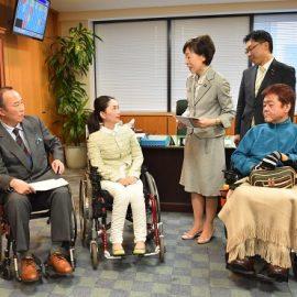 古屋範子厚生労働副大臣へ要望書提出